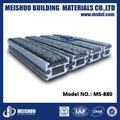 Construção de entrada matting/alumínio porta tapete com carpete cinza( ms- 880)