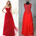 Jm. Bridals imagen real hy225 bastante rojo una línea de tul de cuentas niñascargan hecho en china