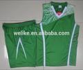 2014 nuevo diseñador de moda al por mayor de deportes de color verde camiseta de baloncesto