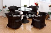 Al aire libre juego de comedor/de metal/hierro/marco de aluminio/hotel ingeniero de proyecto de los muebles