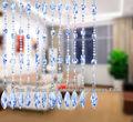 Hechas a mano del hotel de la cortina para la decoración del hogar sz2- azul