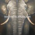 elefante hecho a mano de pintura al óleo