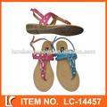 de lujo de estilo plano sandalias para damas