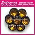 amarelo de plástico botões de flor acrílico haste