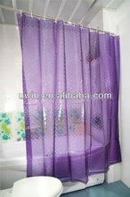 3d eva cortina de ducha de color púrpura cortina de la ducha