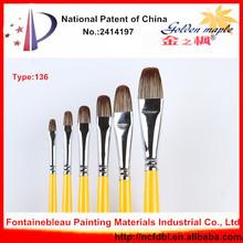 professional acrylique pinceaux en laiton ferruleexpédition 136 manche en bois