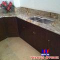 nuevo estilo de cocina encimera de granito con el gabinete