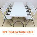 8ft rectángulo mesa plegable( banquete, camping, silla de jardín)