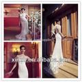 высокий воротник русалка кружева свадебные платья дешевые свадебные платья сделано в китае
