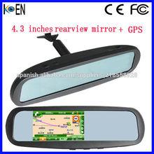 GPS Navegación Espejo Retrovisor Bluetooth GPS DVR
