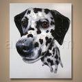 venta caliente más nuevo de la pintura de arte hechas a mano del perro de pinturas al óleo