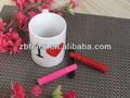 sublimação caneca de cerâmica com água cor de caneta- amor caneca
