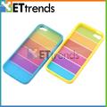 Colorido arco-íris acessórios de telefone celular por atacado