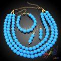 china caliente venta de moda conjunto de joyas artesanales/perlas joyas conjunto para las mujeres