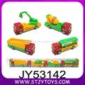 Crianças de plástico puxar para trás do caminhão de construção de brinquedos