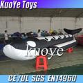 0.9mm tiburón inflable del pvc barco tipo, negro con blanco barco de tiburón, 2014 barco de plátano para la venta