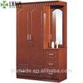 El armario de dormitorio, closets de madera con vestidor, muebles de mdf