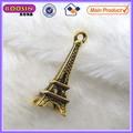 Accesorios de la joyería de la aleación pequeño colgante de oro de metal de la torre eiffel colgante de aleación de zinc #14232