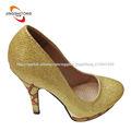 sexy dorado plataforma tacón alto zapato de vestir
