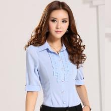 estilo de la moda blusas para mujer uniforme