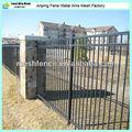 の高い溶接5ft3つのレールの家庭用観賞用の金属フェンス