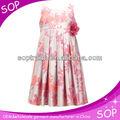Longue robe d'été en coton dessins pour les filles et enfants