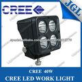 40w cree led de la lámpara de trabajo fuera de carretera led de luz de trabajo