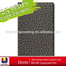 hammertone capa del polvo negro plata textura