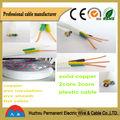cable eléctrico de alta calidad Cable plano de Cobre aislado con PVC y vaina de PVC/ cable eléctrico con 2 o 3 núcleos