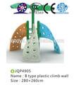 2014 nuevo tipo para niños de plástico de la pared de escalada