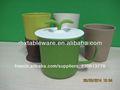 Fibre de bambou éco. lait tasses promotionnelles