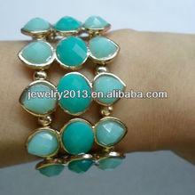 nuevo estilo de la moda pulsera rehsin chapado en oro