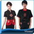 bordado redondo restaurante chino camarero y camarera uniforme