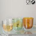 De diseño especial! De color de doble pared del vaso/de café de cristal vaso/baratos de vasos