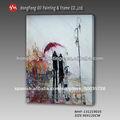 decoración abstrect caminar en lloviendo la amante del arte pintura al óleo