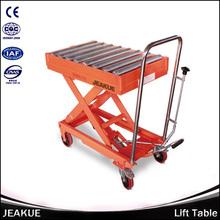 de alta calidad equipos industriales 500kg tabla de elevación hidráulica con rollway