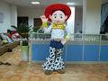 cow girl traje de la mascota jessie