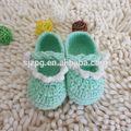 el último 2014 hechos a mano crochet tejer zapatos de bebé para la venta
