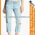2013 venta caliente más nuevo de la moda stright arrancado del diseñador jean, señora jean, la señorita me jeans( hyw751)