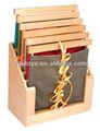 Materiales montessori- soporte para 6 dreessing marcos