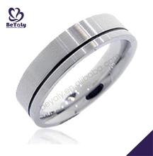 corazón anillo de venta al por mayor de encargo de acero inoxidable anillo de