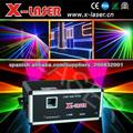 10W RGB a todo color de luz láser Animación etapa de alta potencia de modulación analógica luz láser