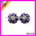de moda de joyería de moda pendiente de venta al por mayor baratos púrpura flor linda forma de corea pendientes