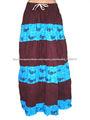 mulheres tradicional saia longa saia de algodão
