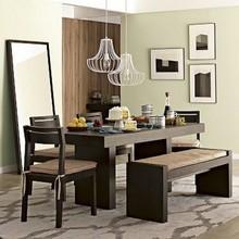 vidro e madeira sala de jantar conjuntos