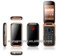 inteligente flip con teléfono de doble sim doble modo de espera disfrutar de android w58 pink flip teléfonos celulares