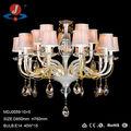 moderna lámpara de araña de cristal