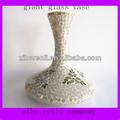 nuevo y elegante adorno de vidrio flor modelado gigante florero de cristal manchado