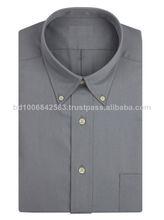 Hombres camisas de ejecutivo, el último modelo de camisa 2014, de color sólido