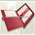 de alta calidad en caja de seda para las invitaciones de la boda
